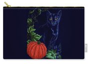 Black Cat Cross Stitch Carry-all Pouch