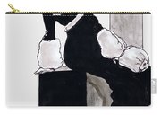 Black Dress With Fur Carry-all Pouch by Mel Thompson