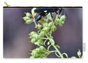 Black Flower Feeding Wasp Carry-all Pouch