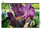 Black Iris Carry-all Pouch