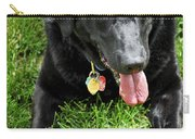 Black Lab Dog With A Ball Carry-all Pouch by Elena Elisseeva