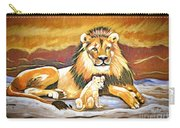 Black Maned Lion And Cub Carry-all Pouch