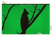 Black  On Green Carry-all Pouch