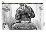 Black Preacher, 1890 Carry-all Pouch