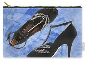 Black Satin And Crystal Dragonfly Pumps Carry-all Pouch