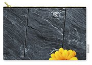 Black Schist Flower Carry-all Pouch by Carlos Caetano