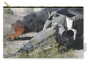 Black Smoke Rises To The Air Carry-all Pouch