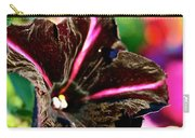 Black Spider Petunia Carry-all Pouch