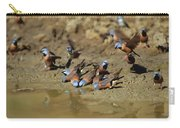 Black-throated Finches At Waterhole Carry-all Pouch