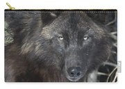 Black Timber Wolf Carry-all Pouch