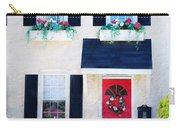 Black Window Shutters With Flowers Carry-all Pouch