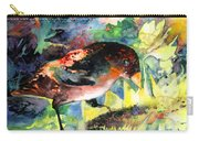Blackbird With Sunflower Carry-all Pouch