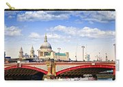 Blackfriars Bridge And St. Paul's Cathedral In London Carry-all Pouch by Elena Elisseeva