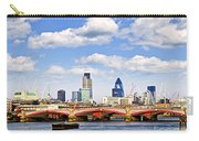 Blackfriars Bridge With London Skyline Carry-all Pouch
