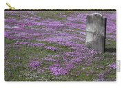 Blank Colonial Tombstone Amidst Graveyard Phlox Carry-all Pouch by John Stephens