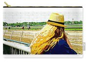 Blonde At Racetrack Carry-all Pouch