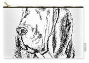 Bloodhound-art-portrait Carry-all Pouch