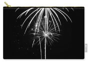 Blooming In Black And White Carry-all Pouch by Bill Pevlor