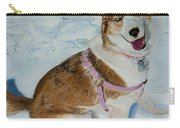 Blue - Siberian Husky Dog Painting Carry-all Pouch