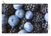Blue And Black Berries Carry-all Pouch