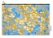 Blue And Gold Floral Abstract Carry-all Pouch
