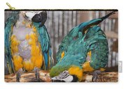 Blue And Gold Macaw Pair Carry-all Pouch