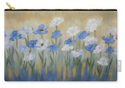 Blue And White Flora Carry-all Pouch