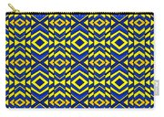 Blue And Yellow Chevron Pattern Carry-all Pouch