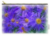 Blue Asters - Watercolor Carry-all Pouch