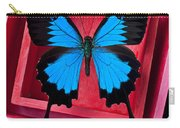 Blue Butterfly In Pink Box Carry-all Pouch