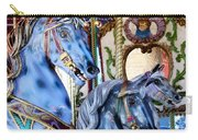 Blue Carousel Merry Go Round Horses Carry-all Pouch