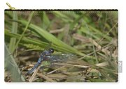 Blue Corporal Dragonfly Carry-all Pouch