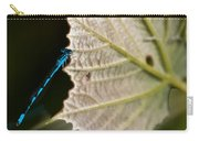 Blue Damsel On Leaf Carry-all Pouch