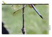 Blue Dasher Dragonfly Dancer Carry-all Pouch by Sabrina L Ryan