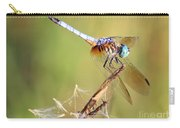 Blue Dasher On Twig Carry-all Pouch