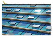 Blue Facade Carry-all Pouch by Carlos Caetano