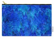 Blue Glass - Abstract Art Carry-all Pouch by Carol Groenen