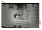 Blue Heron In Platinum Carry-all Pouch