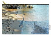 Blue Heron On The Beach Carry-all Pouch