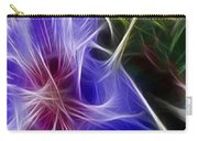 Blue Hibiscus Fractal Panel 1 Carry-all Pouch by Peter Piatt