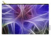 Blue Hibiscus Fractal Panel 2 Carry-all Pouch by Peter Piatt