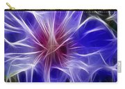 Blue Hibiscus Fractal Panel 3 Carry-all Pouch by Peter Piatt