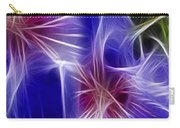 Blue Hibiscus Fractal Panel 4 Carry-all Pouch