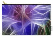 Blue Hibiscus Fractal Panel 5 Carry-all Pouch