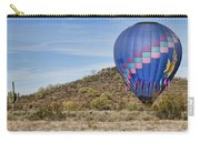 Blue Hot Air Balloon On The Desert  Carry-all Pouch