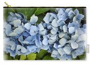 Blue Hydrangeas With Watercolor Effect Carry-all Pouch