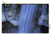 Blue Icy Waterfall Carry-all Pouch