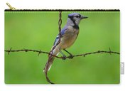 Blue Jay On Crossed Wire Carry-all Pouch
