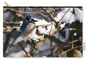 Blue Jay Staying Warm Carry-all Pouch