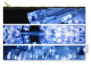 Blue Led Lights In Three Strips Carry-all Pouch
